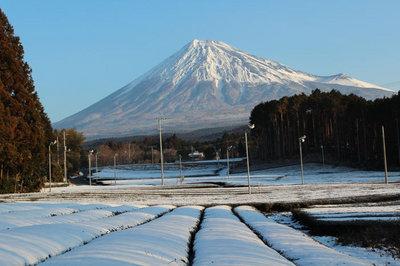 富士山積雪